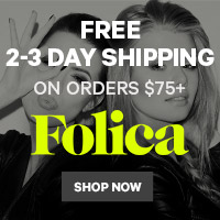 Folica Free 2-3 Day Shipping on $75